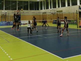 Damen 1 Volleyball TSV 1860 Hanau am 24.11.2019 bei der TG Bad Soden